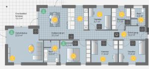 Niko Home Control plantegning eksempel